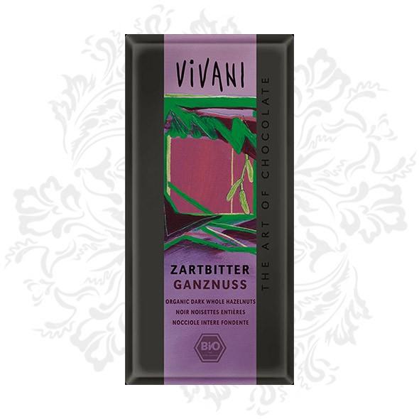 Vivani - Dark Chocolate with whole Hazelnuts (ON SALE)