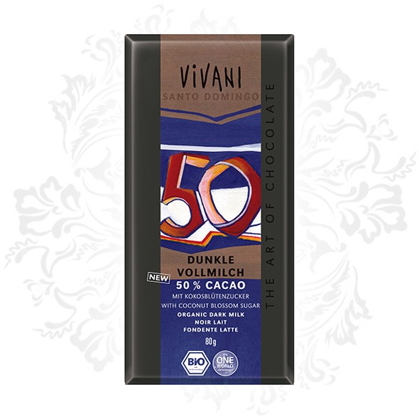 Vivani - Dark Milk Chocolate 50% Cocoa Santo Domingo