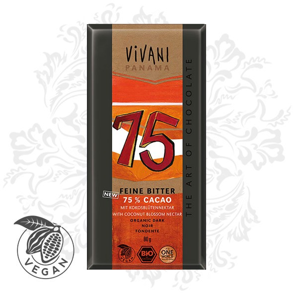 Vivani - Fine Dark with 75% Cocoa (80g)